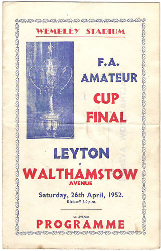 1952 F.A. Amateur Cup Final Programme- Pirate Issue by Victor of London